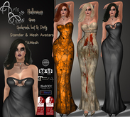 99L$ Promotion***ArisAris~Halloween Gown-Belleza, Slink, Maitreya