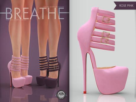 [BREATHE]-Platonica Heels-Rose Pink(for Slink High Feet & Maitreya Lara & Belleza)