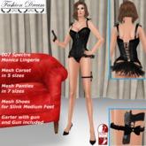 """007 Spectre Monica"" Black Lingerie - Fashion Dream"