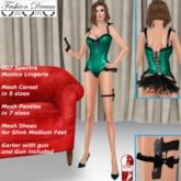 """007 Spectre Monica"" Teal Lingerie - Fashion Dream"