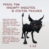 Scary Cat Statue, Visitor List & Greeter
