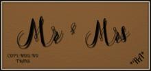 Mr & Mrs Wall Word