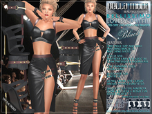 """Bella Moda: """"Bellissimo"""" Black Lovely Outfit - Fitted for Maitreya/Slink Physique & HourGlass/Classic+Std Sizes - FULL"""