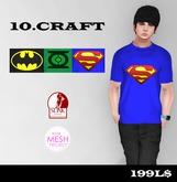 10.CRAFT - SUPERHERO SHIRT PACK .{ BATMAN, GREEN LANTERN, SUPERMAN }