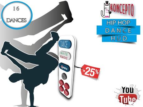 Koncepto HipHop Dance Hud Hip Hop Dances / 16 Motion Captured Dances / Promo %25 Off
