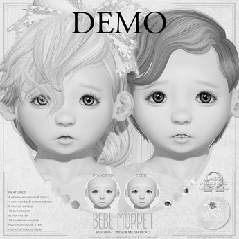 Bebe Moppet Mesh Head Demo