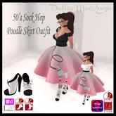 .::DM::. 50s Sock Hop Poodle Skirt Outfit - PINK