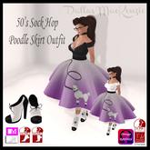 .::DM::. 50s Sock Hop Poodle Skirt Outfit - PURPLE