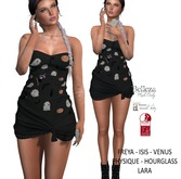 Eyelure Jersey Knotted Dress - HalloweenBLKPrint