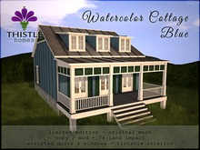 Thistle Homes - Watercolor Cottage Blue - Original Mesh