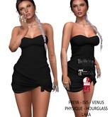 Eyelure Jersey Knotted Dress - BLACK