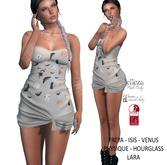 Eyelure Jersey Knotted Dress - HalloweenWhitePrint