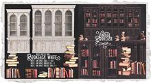 {Nostalgia} Bookcase & Books / Mesh / Decor / White