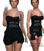 Eyelure Jersey Knotted Dress - WhatUpBLACK
