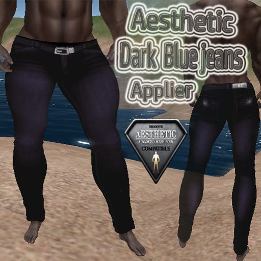 Second Life Marketplace Aesthetics Dark Blue Jeans Applier #80s #aesthetic #aesthetics #jeans #romantic #atmospheric #yes #awesome_music. aesthetics dark blue jeans applier