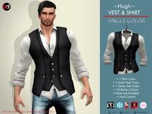A&D Vest & Shirt -Hugh- Ivory-Ebony