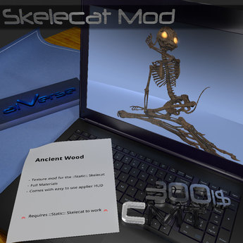 aiVerse Skelecat MOD Ancient Wood