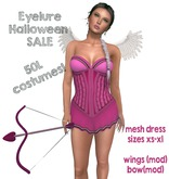 Eyelure Pink Costume Dress, Bow, Wings