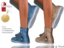 byCrash Full perm mesh (DAEs included)-Ankle sneaker boots with 10 textures, TMP, Belleza, Slink, Maitreya