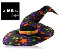 .: MB .: Mesh Witch Hat V2 Stars {add me}