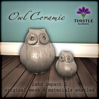 Thistle Homes - Owl Ceramic - Original Mesh