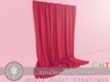 WHOLE.WHEAT Red Crumpled Curtain [Copy,Modify]