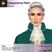 A&A Casanova Hair Silver. Victorian / baroque / rococo roleplayer men's ponytail hairstyle. FUNCTIONAL DEMO
