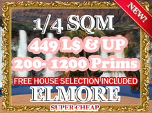 Elmore Luxury Land - $449 / 1/4 SIM