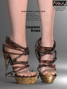 AZOURY - Linaewen High heels Shoes [Brown]