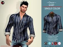 A&D Shirt -Oscar- Azure-Ivory