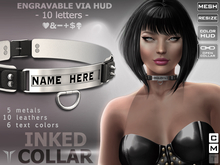 **RE** Inked Collar RLV * ENGRAVABLE * MESH * (*LUX** Collection*)