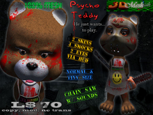[Psycho teddy] 100% Mesh halloween normal & tiny avatar w/scripted sound