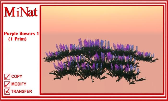 MN Purple flowers 1 (1 Prim)