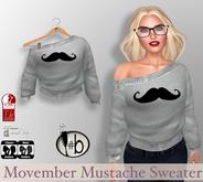#bubbles Movember Mustache Fall Sweater Off Shoulder November Group Gift Maitreya slink fitmesh mesh