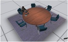 round table conference table  - boxed