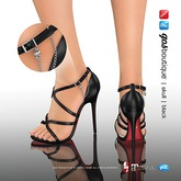 [Gos] Boutique - Skull Chain Sandals - Black