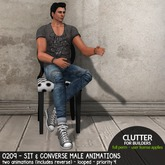 Clutter - 0209 - Sit & Converse Male Animations