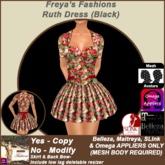 Freya's Fashions Ruth (Black)