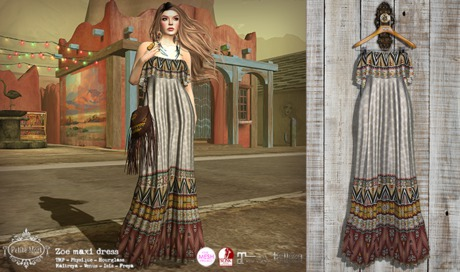 Petite Mort- Zoe maxi dress IVORY