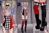 Mad circus harlequin