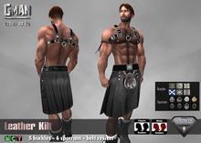 [GMan] KT - Black Leather Kilt