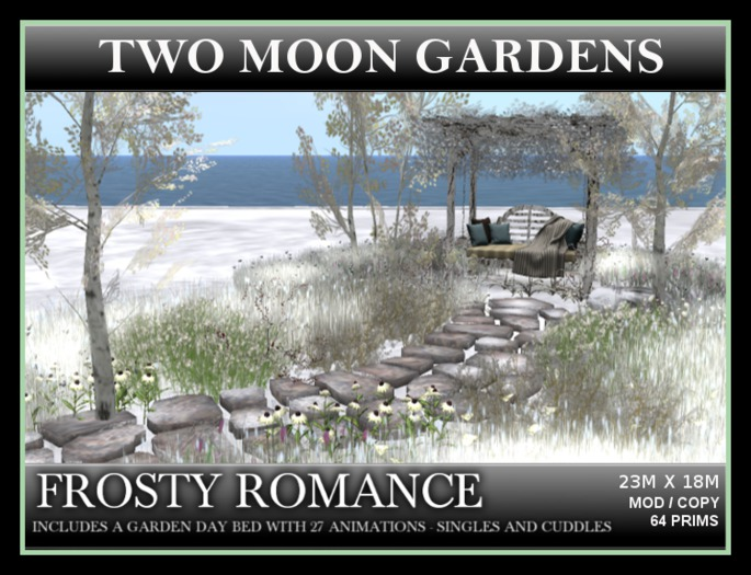 FROSTY ROMANCE* Landscaped Garden