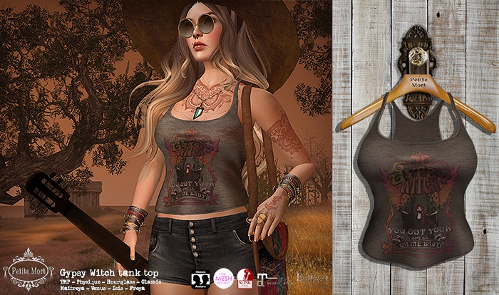 Petite Mort- Gypsy Witch Tank COCOA