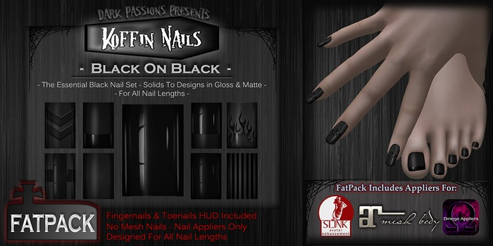 DP - Koffin Nails - FatPack - Black On Black