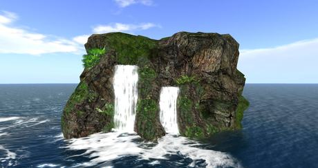 Free Gift Freebie Realistic Waterfall copy/mody 12 prim ( for Cave Waterfall Grotto Landscaping )