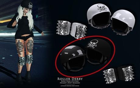 Roller Derby - Black Helmet