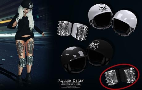 Roller Derby - Black KNEE pads