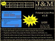 J&M Creations Friend List Pro