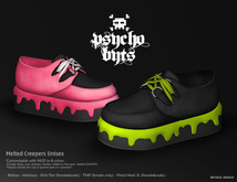 .{PSYCHO:Byts}. Melted Creepers - RED - (wear to unpack)