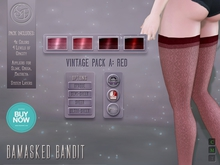 ".:SF:. ""Damasked Bandit"" Stockings - Vintage A (Red)"